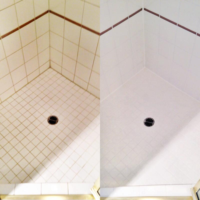 Shower Stall Grout Cleaning Restoration Services